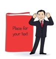 smiling businessman standing near vector image vector image