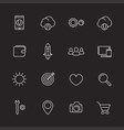 thin line web icons set for websites and apps vector image vector image