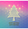 Tree christmas on triangle background vector image vector image