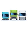 truck front view set urban city vehicle model vector image vector image