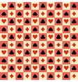 Two playing Cards Suits Seamless Patterns and vector image vector image