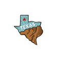 vintage hand drawn texas badge state badge united vector image