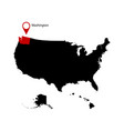 washington state in the united states map vector image vector image