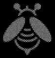 White dot bee icon