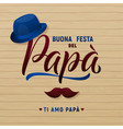 father s day greeting card hat and mustache vector image