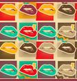 pop art lips copies seamless pattern vector image