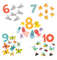 12345 figures and animals for children vector image vector image