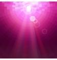 Abstract Pink concentric circle shine mosaic vector image