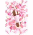 advertising poster for cosmetic product with rose vector image