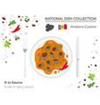 andorra cuisine european national dish collection vector image