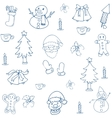 art of christmas set element vector image