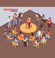 artist master class isometric vector image vector image