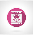 automatic washing machine pink round icon vector image vector image