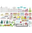 big set city elements vector image vector image