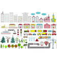 big set of city elements vector image vector image