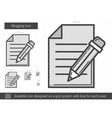 Blogging line icon vector image vector image