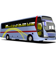 blue tourist or city bus on the road coach vector image