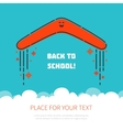 Boomerang flying back to school vector image vector image