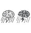 brainstorm line and glyph icon development vector image