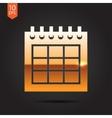 calendar icon Epsgold0 vector image vector image