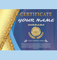 Certificate template with luxury patterndiploma