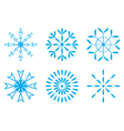 Christmas - Set of blue snowflakes icon vector image vector image