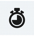 chronometer icon on transparent background vector image vector image