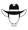 cowboy hat icon simple style vector image vector image