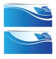 Cruise ship banner2 vector image vector image