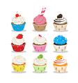cute cupcake vector image vector image