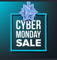 cyber monday sale banner november cyber vector image