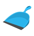 Dustpan blue cartoon icon vector image