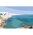 Exotic Island Paradise Beach vector image vector image