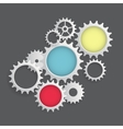 Flat Gear Icon Cooperation and Teamwork Concept vector image