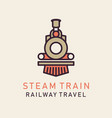 flat image retro steam train vector image
