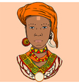graphic of the African girl vector image