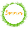 green plant branches and place for text summer vector image