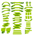 green ribbons vector image vector image