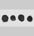 grunge paint circle elements set brush smear vector image
