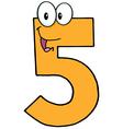 Happy Number Five vector image vector image