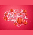 happy valentine s day font composition with paper vector image vector image