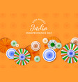 india independence day badge decoration card vector image vector image