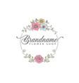 line art flower shop logo design vector image vector image