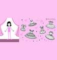 little ballet dancer on stage vector image