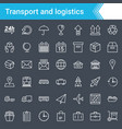 logistics and transport icons isolated vector image vector image