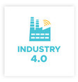 manufacturing industry 40 revolution concept vector image