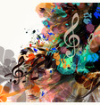music background with colorful psychedelic spots vector image