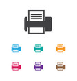 of office symbol on printer vector image