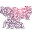 ornamental smoke with polynesian elements vector image vector image