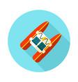 pedalo boat beach icon summer vacation vector image vector image